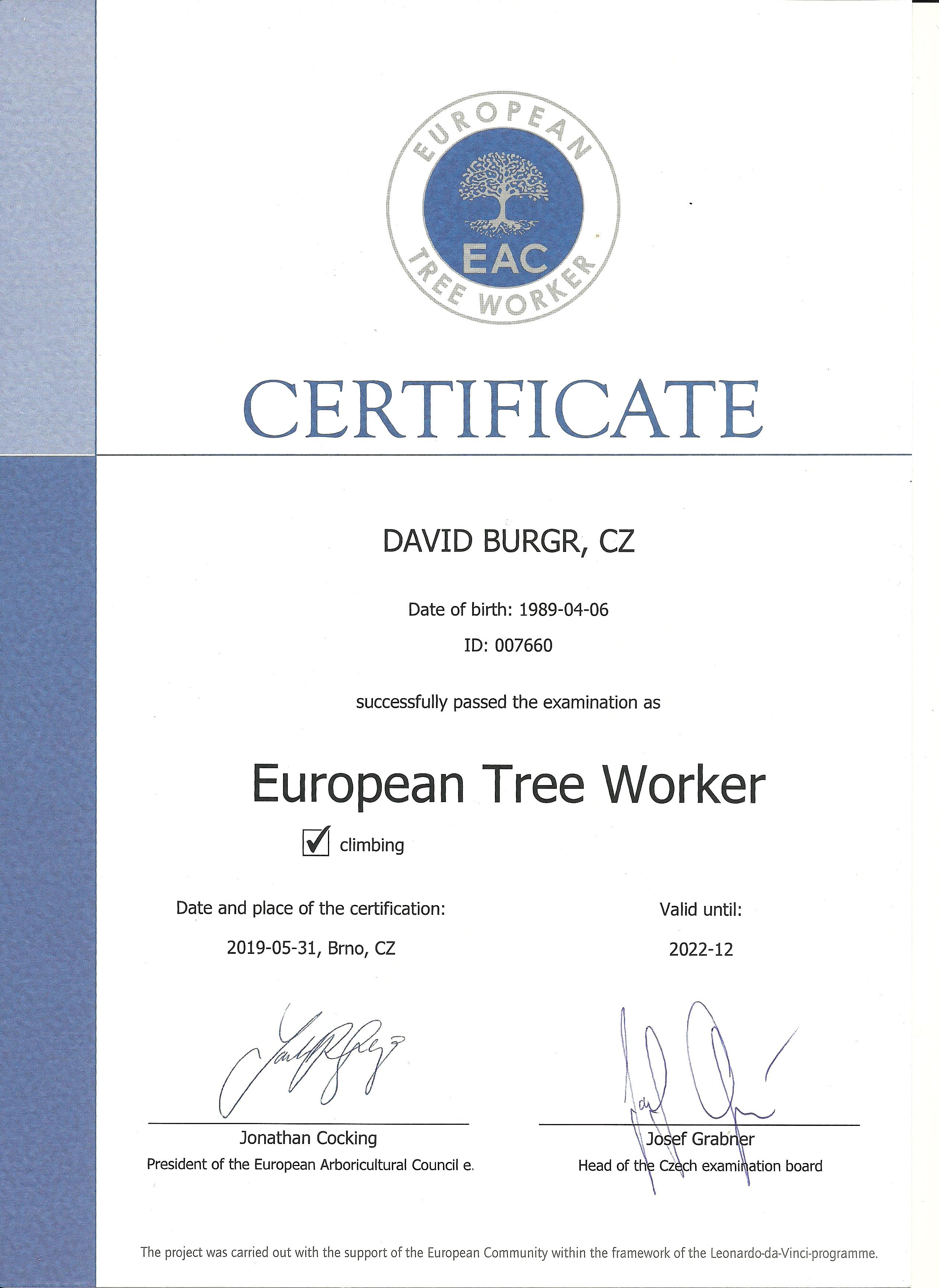 Certifikace uznávaná po celé Evropě
